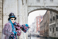 Blue and magenta carnaval costume Stock Images