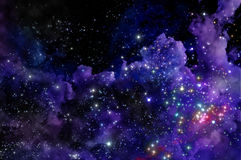 Blue and magenta nebula Royalty Free Stock Images