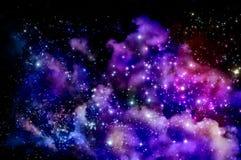 Blue and magenta nebula Stock Photo