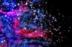 Blue and magenta nebula Royalty Free Stock Photography