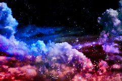 Blue and magenta Northern Lights Royalty Free Stock Photo
