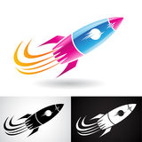 Blue and Magenta Rocket Icon Royalty Free Stock Image