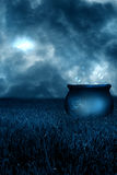 Blue Magic. A digitally created setting created from a mixture of digital art and my photography for artists to use of a witches cauldron Stock Photography