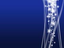 Blue magic. On blue background Stock Photo