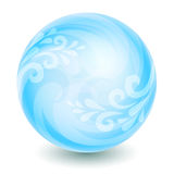 Blue magic ball. Isolated blue ball with elegant decoration royalty free illustration