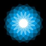 Blue magic circle Stock Photography