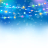 Blue magic holiday background Royalty Free Stock Images