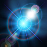 Blue magic light star background Vector Royalty Free Stock Image