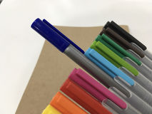 Blue magic pen royalty free stock images