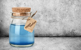 Blue magic potion Royalty Free Stock Photo