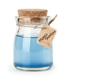 Blue magic potion Stock Photos