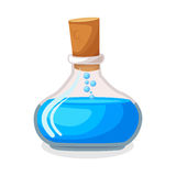 Blue magic potion Stock Images