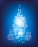 Blue magical Christmas tree Stock Photos