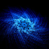 Blue magical glowing star on grid Royalty Free Stock Images