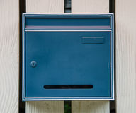 Blue mail box royalty free stock photos