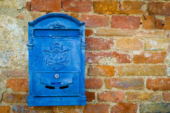Blue mailbox Stock Photo