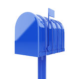 Blue mailbox isolated Royalty Free Stock Photo
