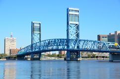 Blue Main Street Bridge Royalty Free Stock Images