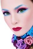 Blue make-up Stock Photo