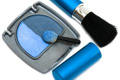 Blue make-up eyeshadows Royalty Free Stock Photo