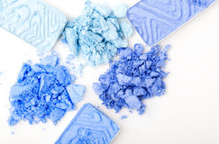 Blue make-up eyeshadows Stock Photography