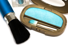 Blue make-up eyeshadows Stock Image
