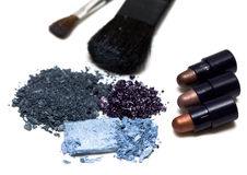 Blue make-up eyeshadows Stock Image