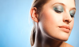 Blue makeup Royalty Free Stock Photo