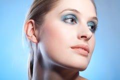Blue makeup Royalty Free Stock Image
