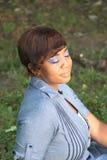 Blue Makeup Stock Photo