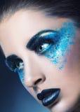 Blue Makeup Stock Images