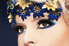 Blue makeup. Stock Photography