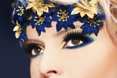 Blue makeup. Stock Photography