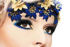 Blue makeup. Stock Images