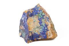 Blue malachite stone Stock Photography