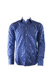Blue male shirt Royalty Free Stock Image