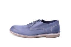Blue male shoe Stock Photo