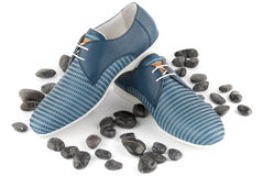 Free Blue Male Shoes Royalty Free Stock Image - 40504736