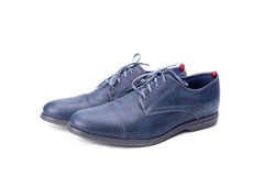 Blue male shoes Stock Photo