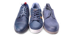 Blue male shoes Stock Image