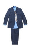 Blue male striped suit Royalty Free Stock Image