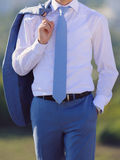 Blue Male Suit Royalty Free Stock Image