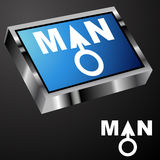 Blue Man Button Royalty Free Stock Photography