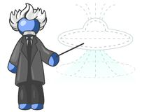 Blue man Einstein. Graphic illustration with white background royalty free illustration