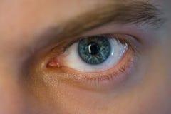 Blue man eye. Stock Photo