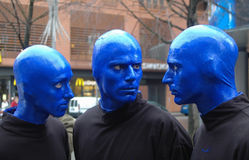 Blue Man Group in Berlin Stock Image