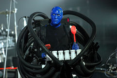 Blue man group performance Royalty Free Stock Photos