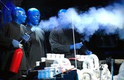 Blue man group performance Stock Photos