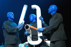 Blue man group performance Stock Photo