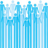 Blue Man icon background Royalty Free Stock Images